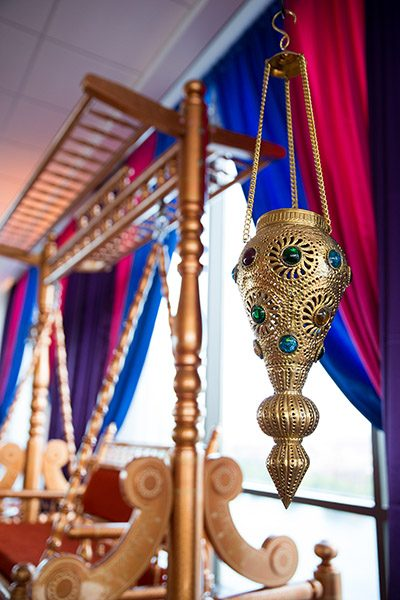 Ami and Anish Indian Wedding Sangeet Decor Hyatt Cambridge Massachusetts