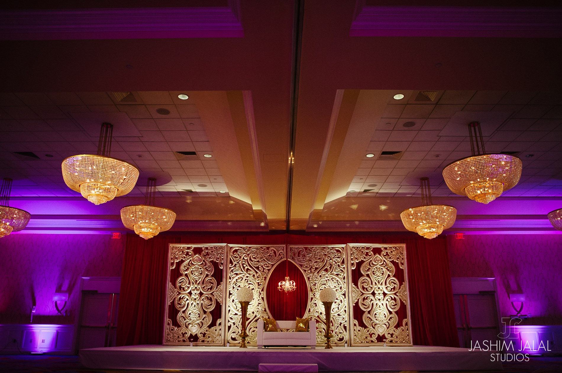 Tarang and Alka Indian Wedding Engagement Decor Marriott Quincy ... for Indian Wedding Light Decoration  55nar