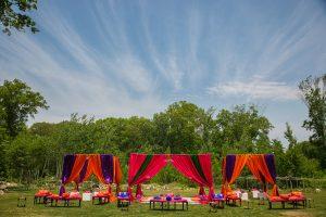 Vihari and Chetak Indian Wedding Decor Sangeet Massachusetts