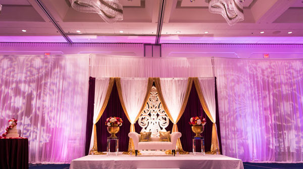 Ami and Anish's Indian Wedding Reception Decor - Hyatt Cambridge MA