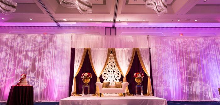 Ami And Anishs Indian Wedding Reception Decor Hyatt Cambridge Ma